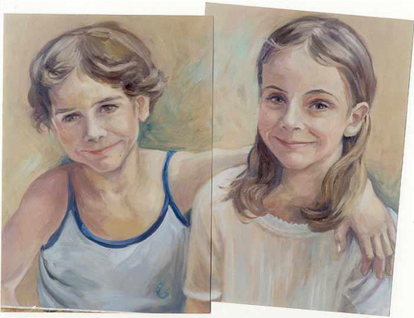 Clara and Irene - oil on canvas