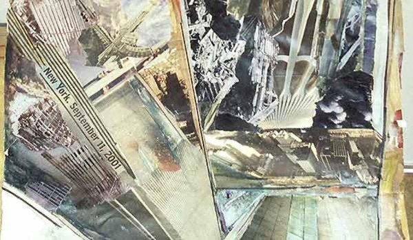 9/11 Twin Towers (detail 2) - collage