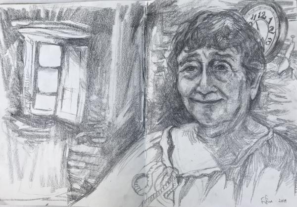 Fifine Emmanuele, Velone - charcoal