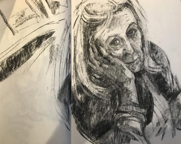 Self Portrait - charcoal sketch