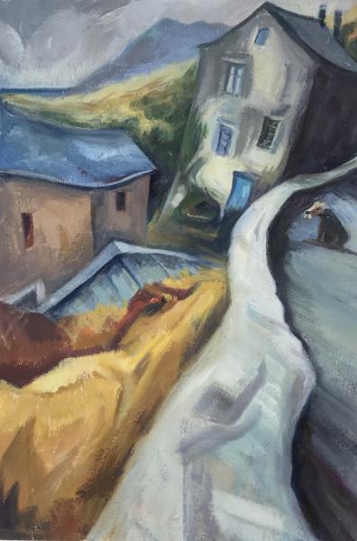 Arnold, Velone Village - oil on paper