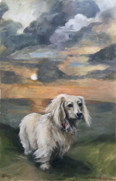 Dizzy - oil on canvas