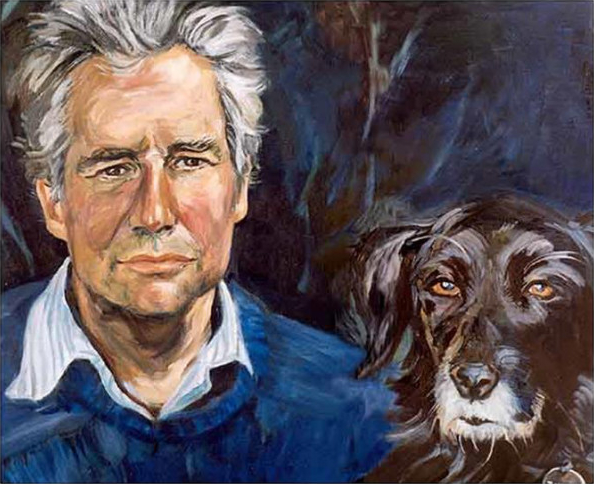 Edward Hulton and Bullet - oil on canvas