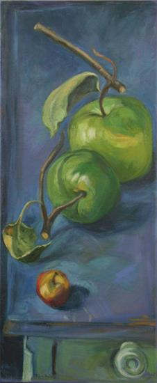 Christina's Apples 2 - oil on canvas
